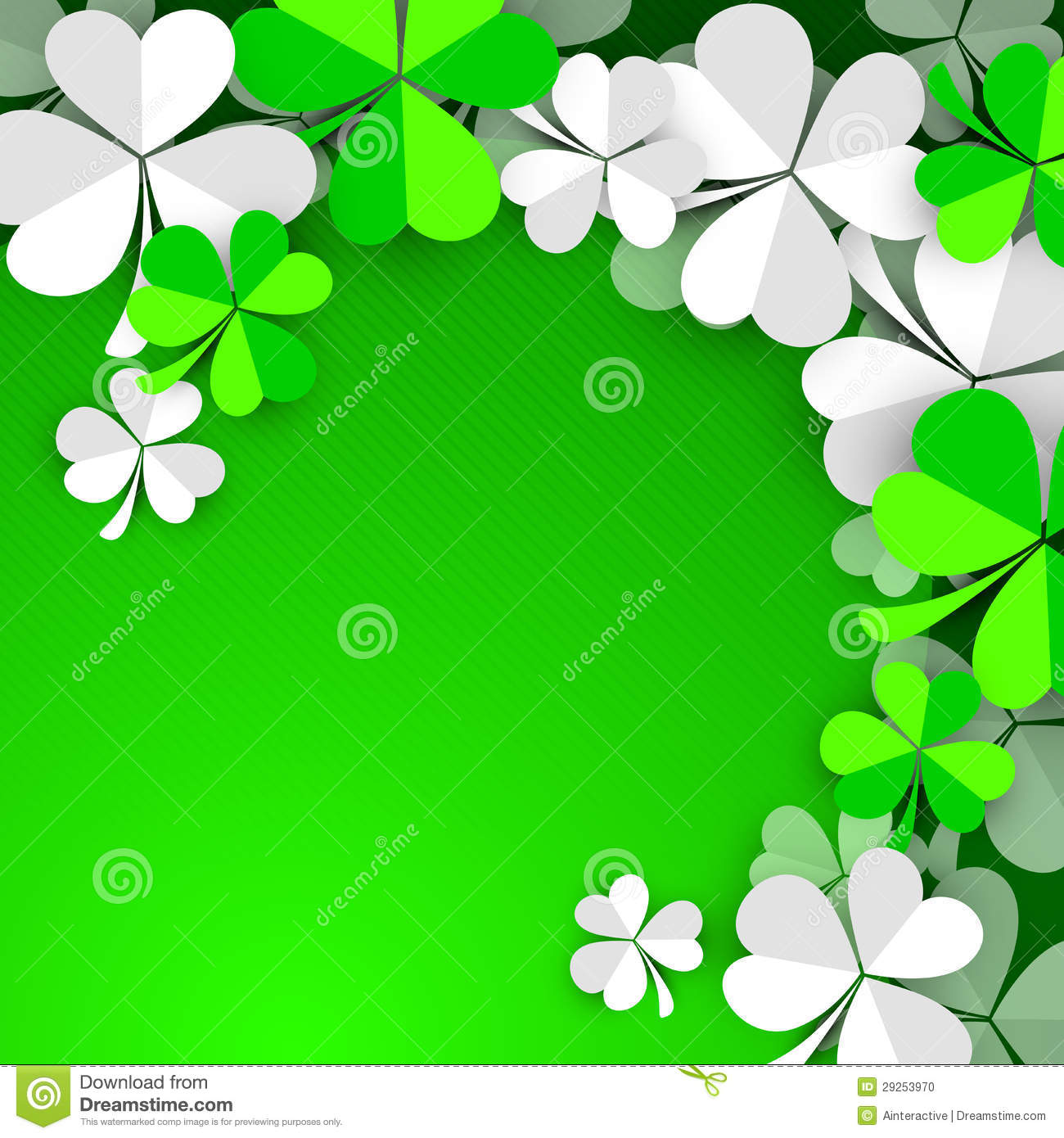 Irish Clover Background Irish shamrock 1300x1390