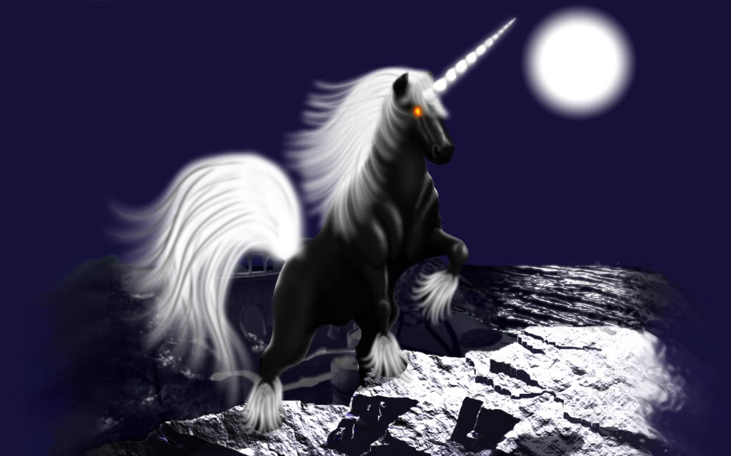 Fantasy Images Moonlight Unicorn Hd Wallpaper And Background 1023x639