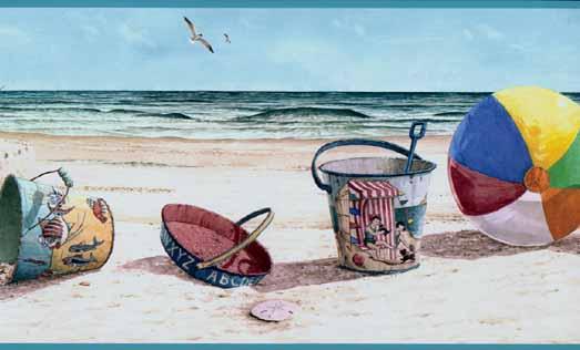Fun Day at the Beach Wallpaper Border Wallpaper inccom   Wallpaper 523x316