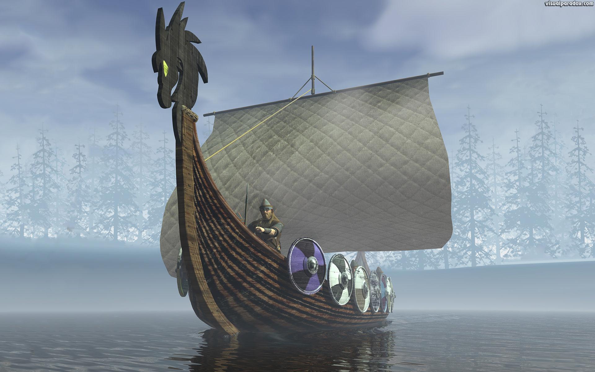 Paradox 3D Wallpaper Viking Ship 1920x1200 size wallpaper 1920x1200
