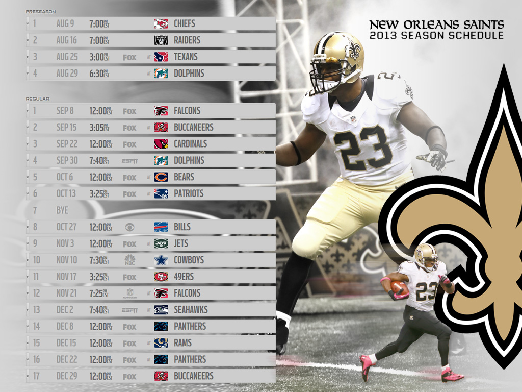 LSU Saints Schedule Wallpaper 1024x768