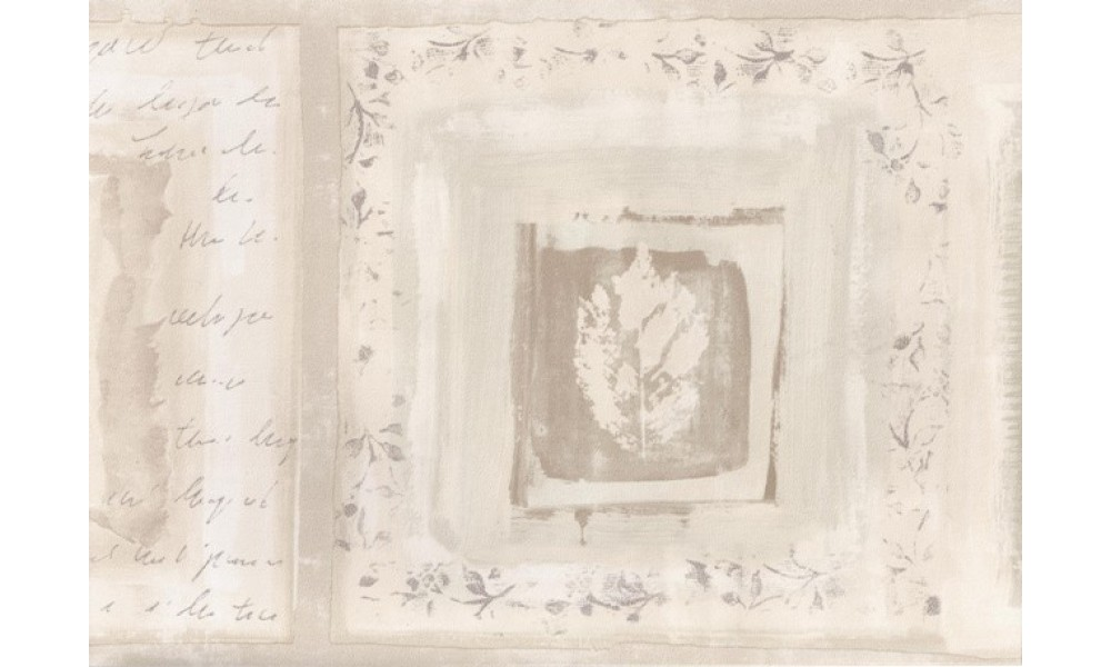 Home Cream White Beige Leaf Displays Wallpaper Border 1000x600