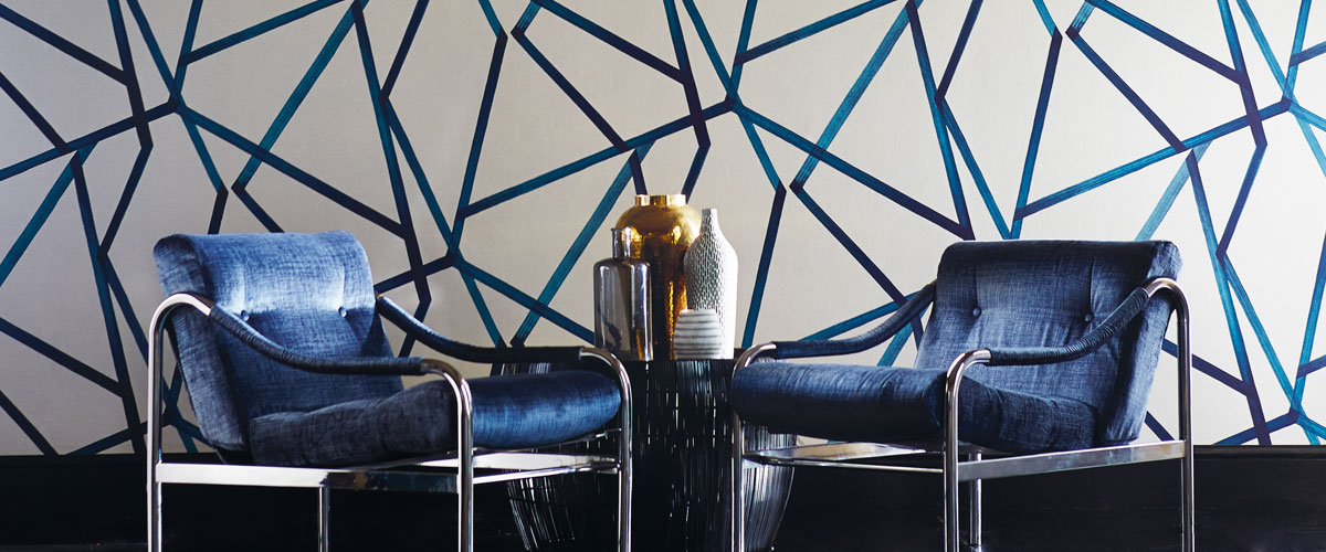 1 Harlequin Momentum 3 Wallpaper Luxury Blue Lined   Feature 1200x500