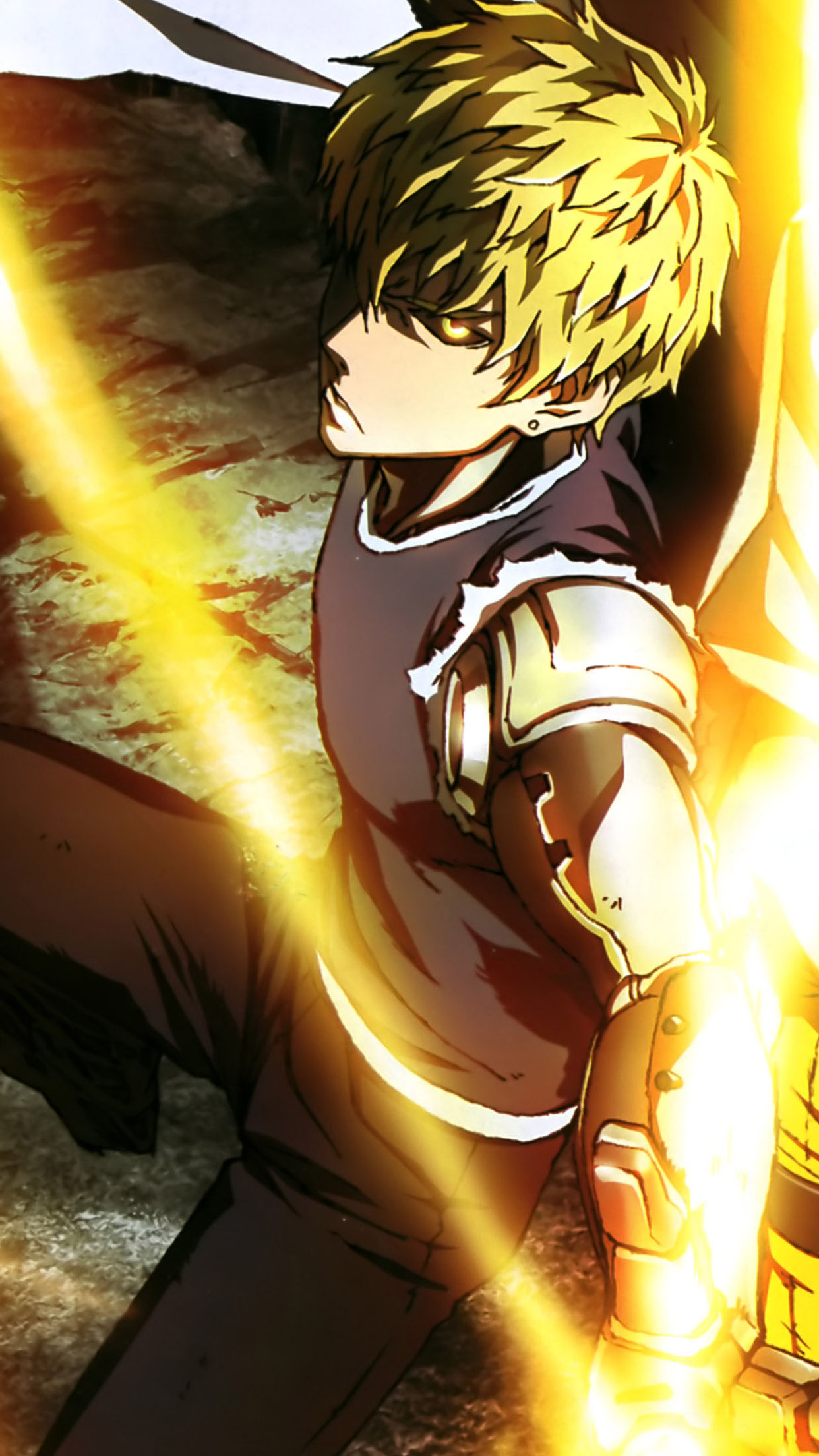 Free Download One Punch Man Genos Super Iphone Hd Wallpapers