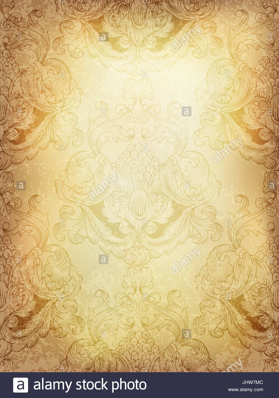 Abstract vintage background with classical seamless pattern Stock 975x1390