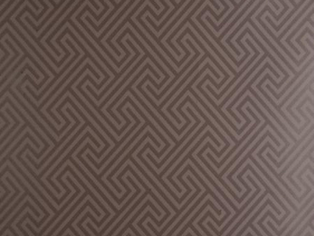 Piazza Mocha Brown Geometric Wallpaper with Delivery 1000x750