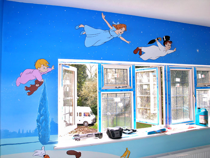 peter pan room wallpaper wallpapersafari