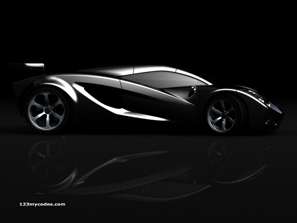 Myspace backgrounds car backgrounds glossy black car background 1024x768