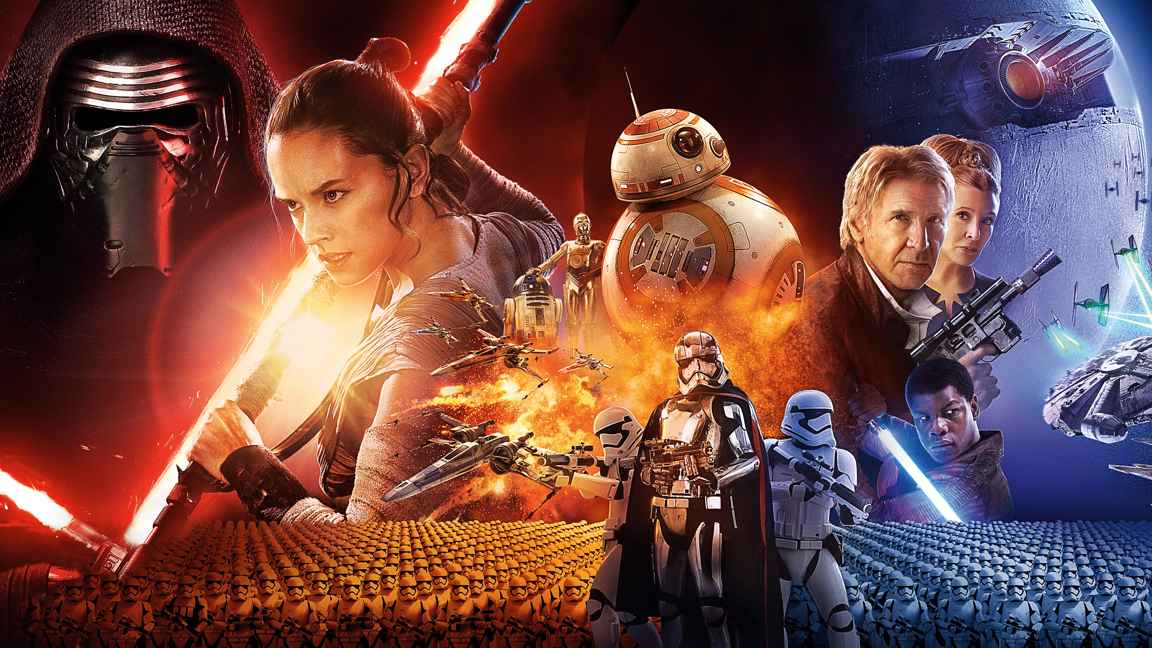 43 The Force Awakens Wallpapers On Wallpapersafari