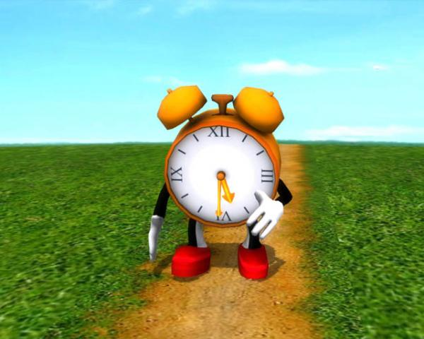 Running Clock Wallpaper For Desktop running clock 3d screensaver 600x480