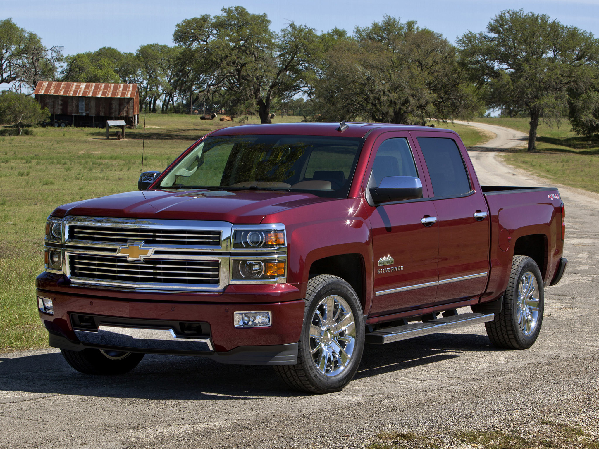 2014 Chevrolet Silverado High Country truck 4x4 wallpaper background 2048x1536