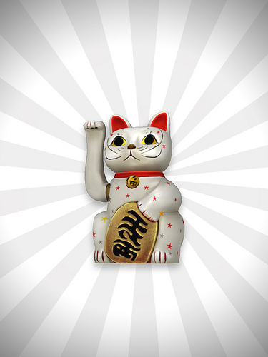 Neko Lucky Cat   wallpaper luckycat manekineko neko cat maneki lucky 375x500