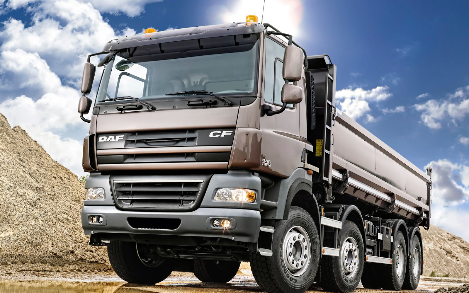 of Dump Truck Colour HD wallpapers for your computer desktop 1600x1000