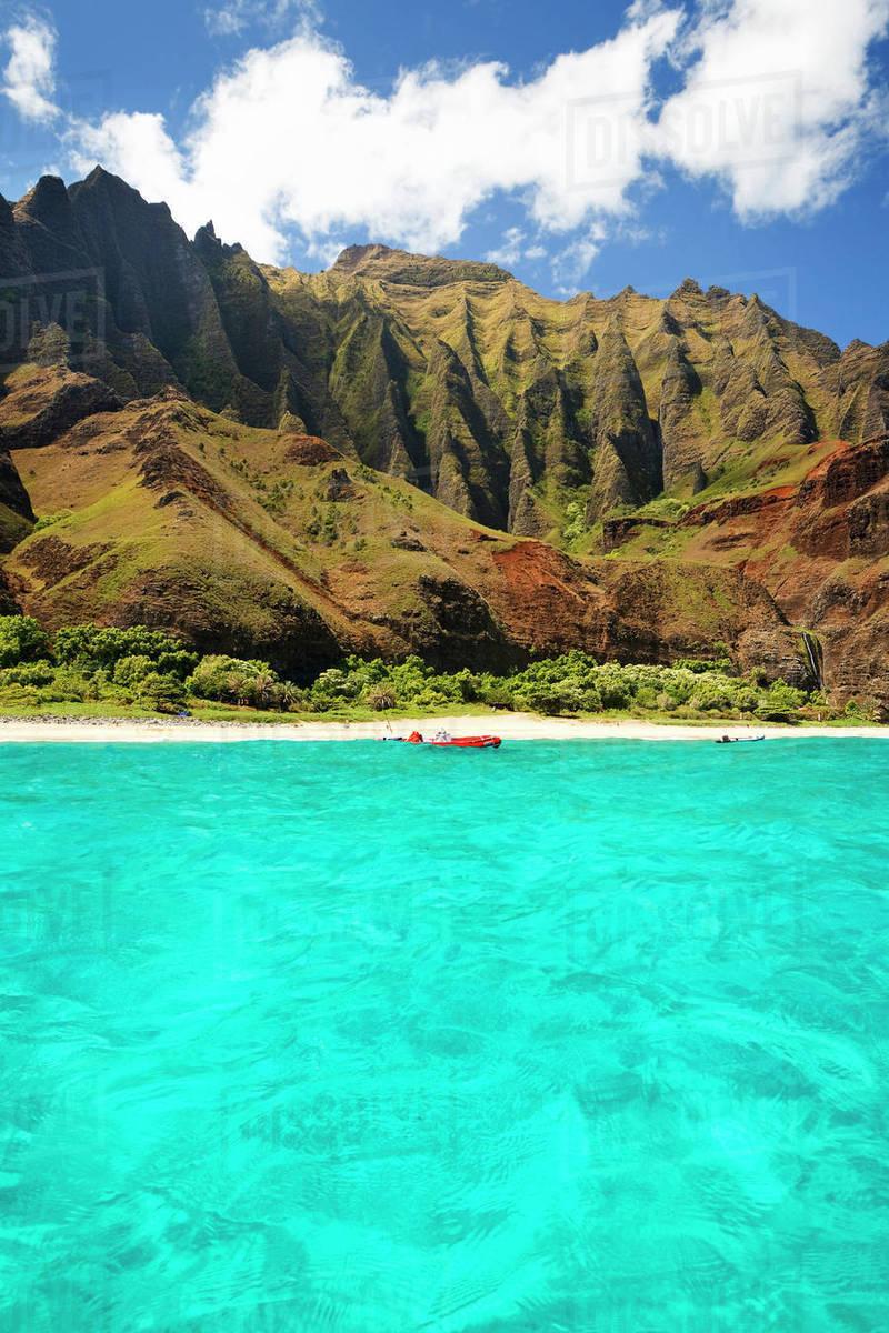 Hawaii Kauai Na Pali Coast Kalalau Beach And Cliffs In 800x1200