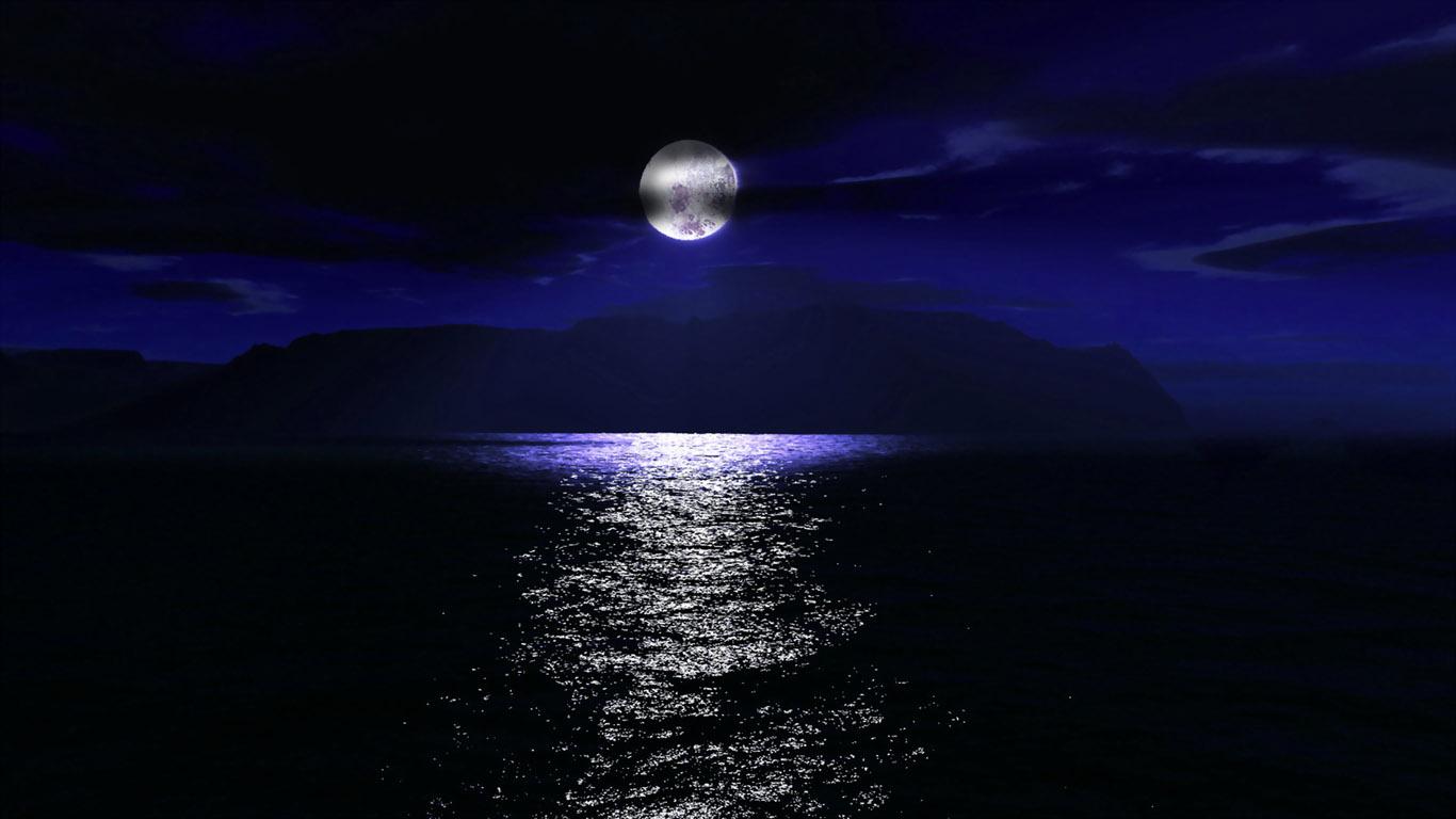 луна над городом  № 1456785  скачать