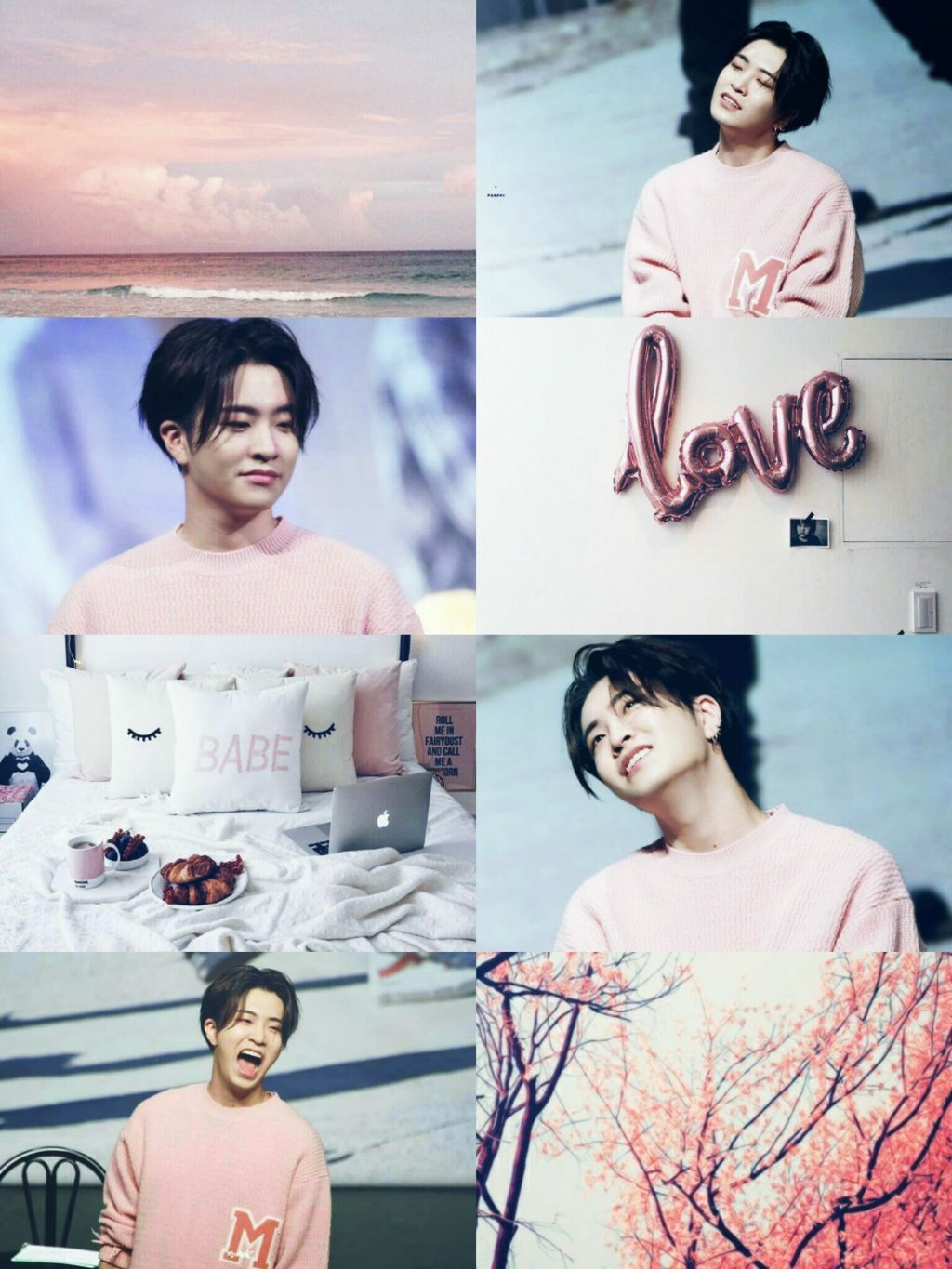 youngjae got7 2Jae pink wallpaper 1024x1365