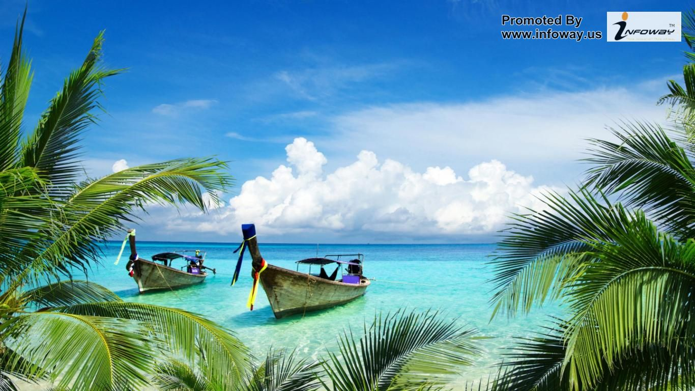 Hd Tropical Island Beach Paradise Wallpapers And Backgrounds: Tropical Island Paradise Wallpaper