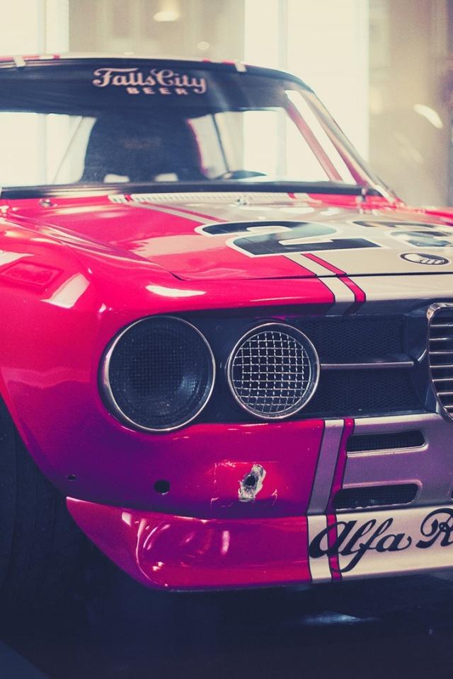 640x960 Classic Alfa Romeo Race Car Iphone 4 wallpaper 640x960