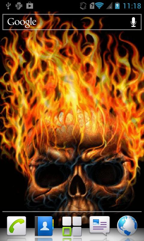 Fire Skull Live Wallpaper 10 screenshot 3 480x800