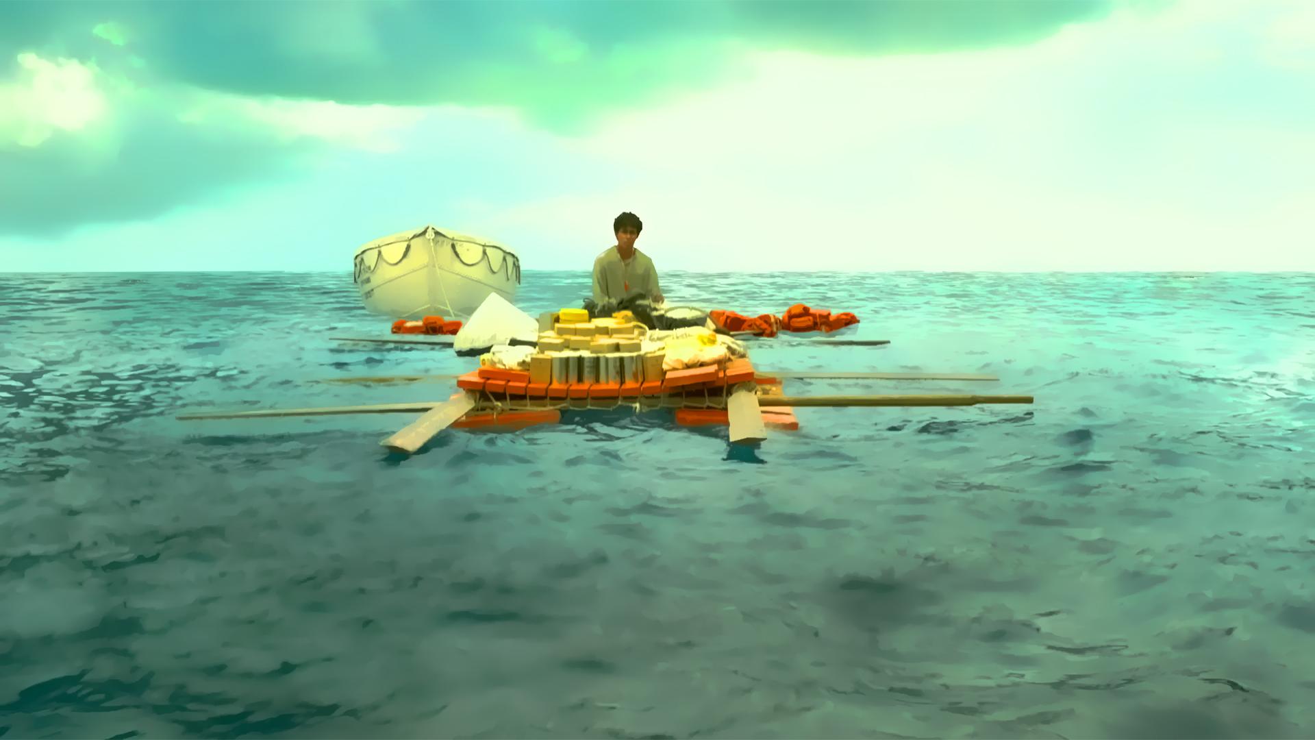 Raft Ocean HD wallpaper 1920x1080