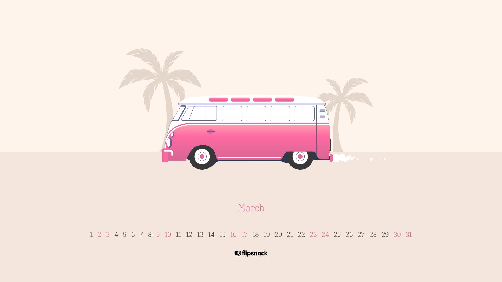 March 2019 wallpaper calendars   Flipsnack Blog 1920x1080