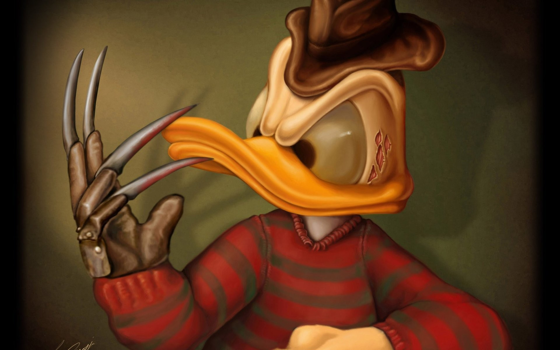 Download Donald Duck As Freddy Krueger HD Wallpapers 6392 Full Size 1920x1200