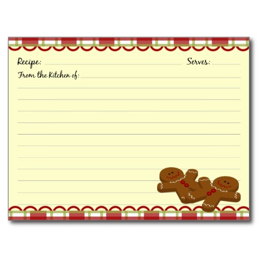 Christmas Recipe Card Template from cdn.wallpapersafari.com