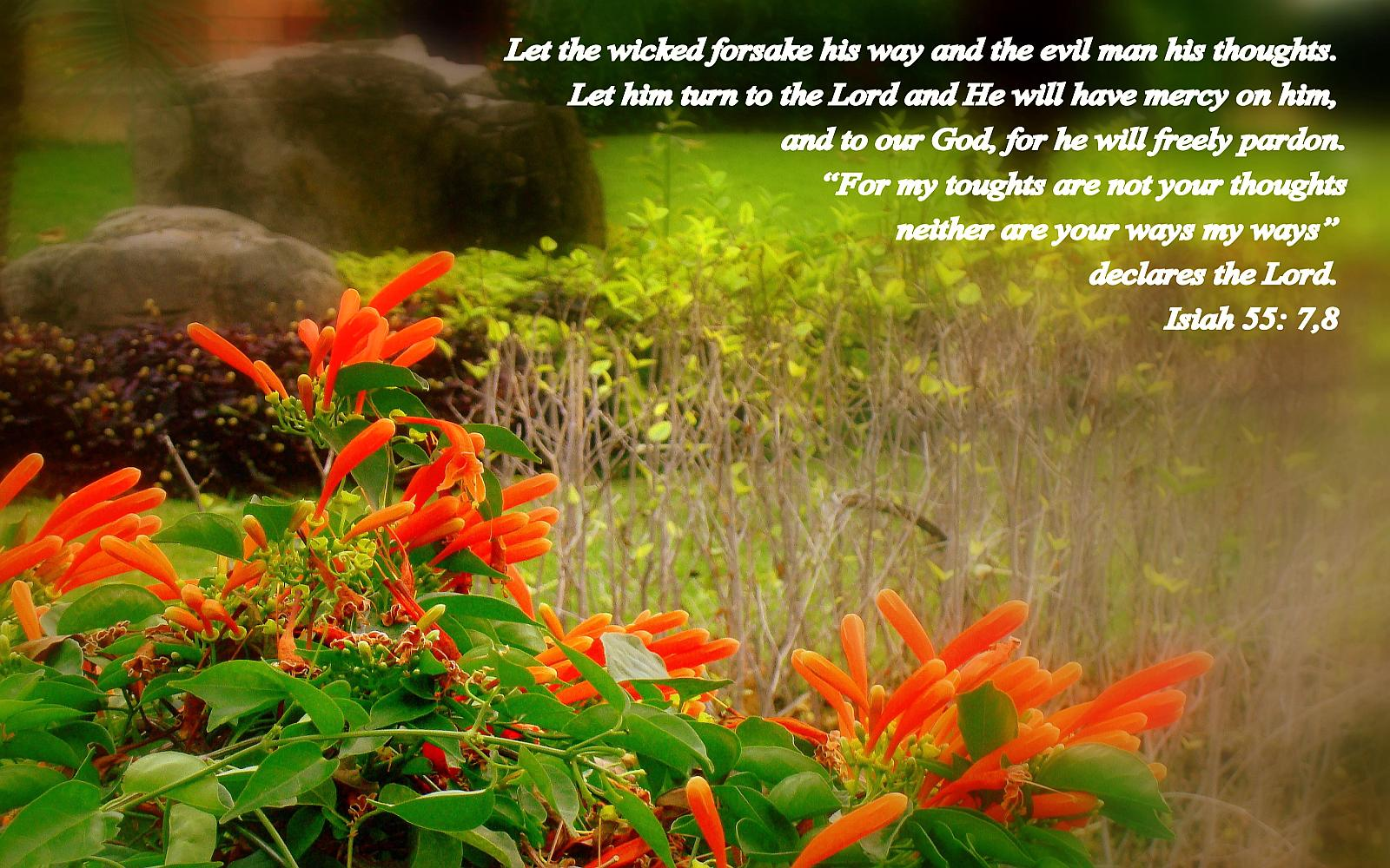 Isaiah 557 8   Turn to the Lord Wallpaper   Christian Wallpapers 1600x1000