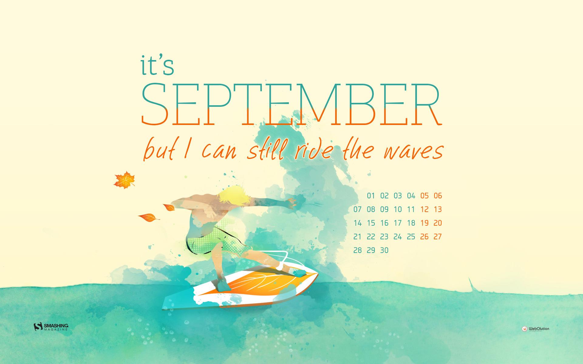 Calendars Wallpapers September 2015 its september but i can still ride 1920x1200
