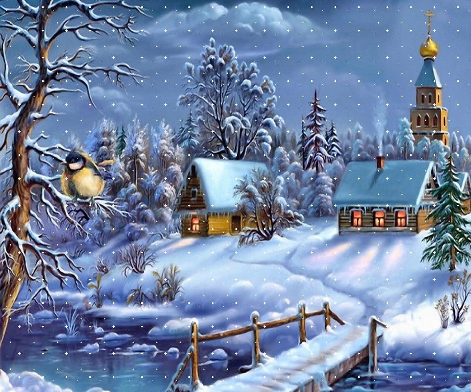 Free christmas wallpaper snow falling wallpapersafari - Free screensavers snowflakes falling ...