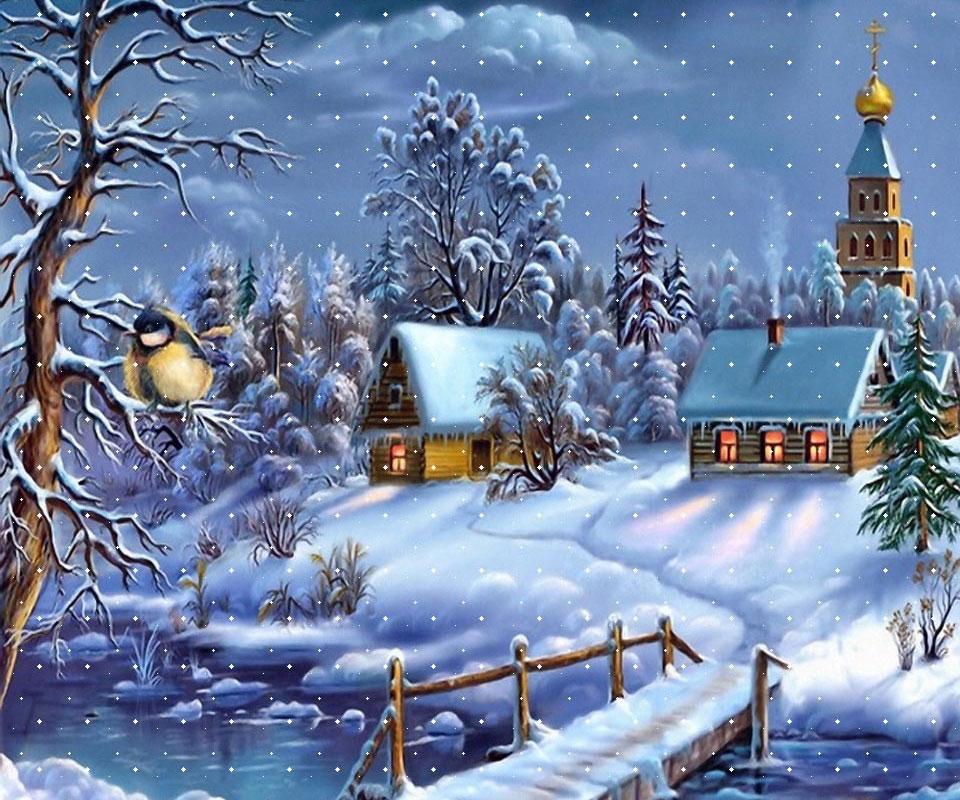 Free christmas wallpaper snow falling wallpapersafari
