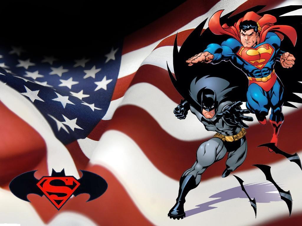 Download Superman Comic wallpaper superman batman 1024x768