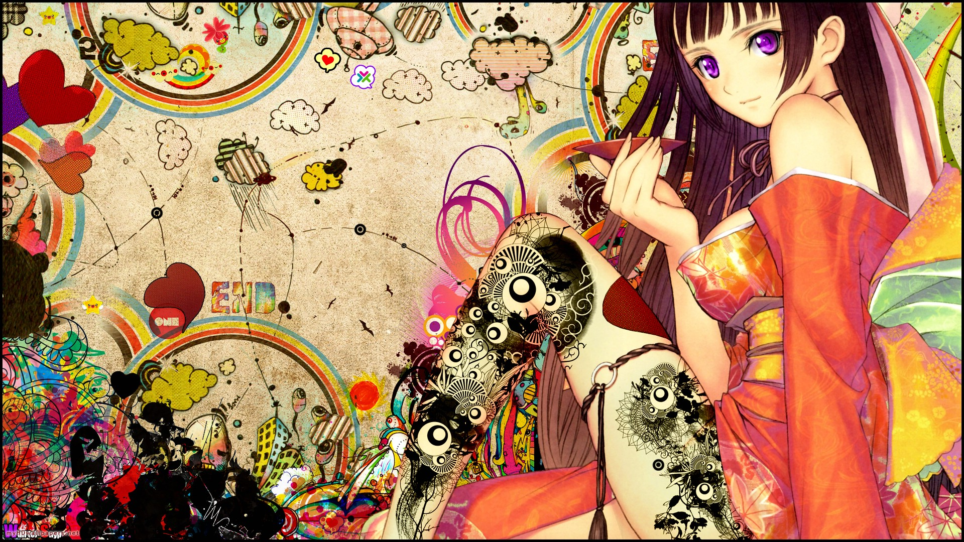 Anime art wallpaper wallpapersafari - Sketch anime wallpaper ...
