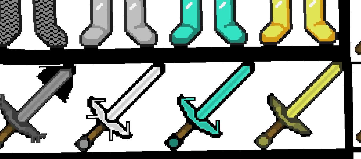 как рисовать меч из майнкрафта #4