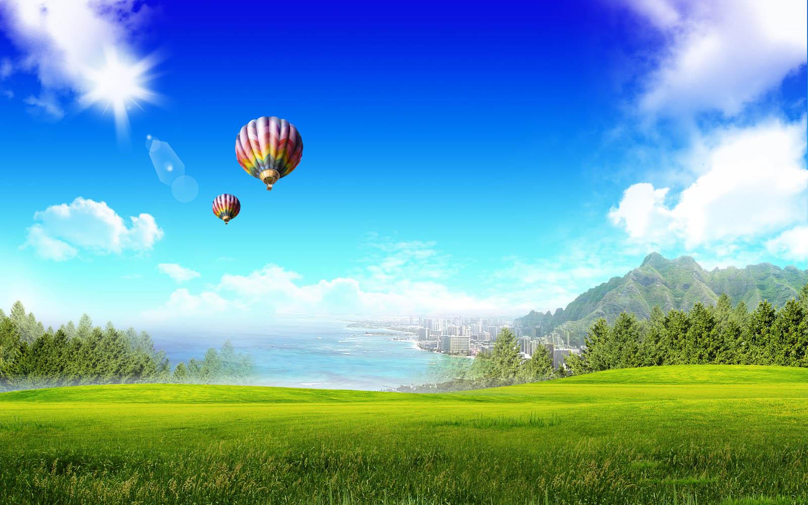 Balloons Desktop Wallpapers Hot Air Balloons Desktop Backgrounds 1600x1000