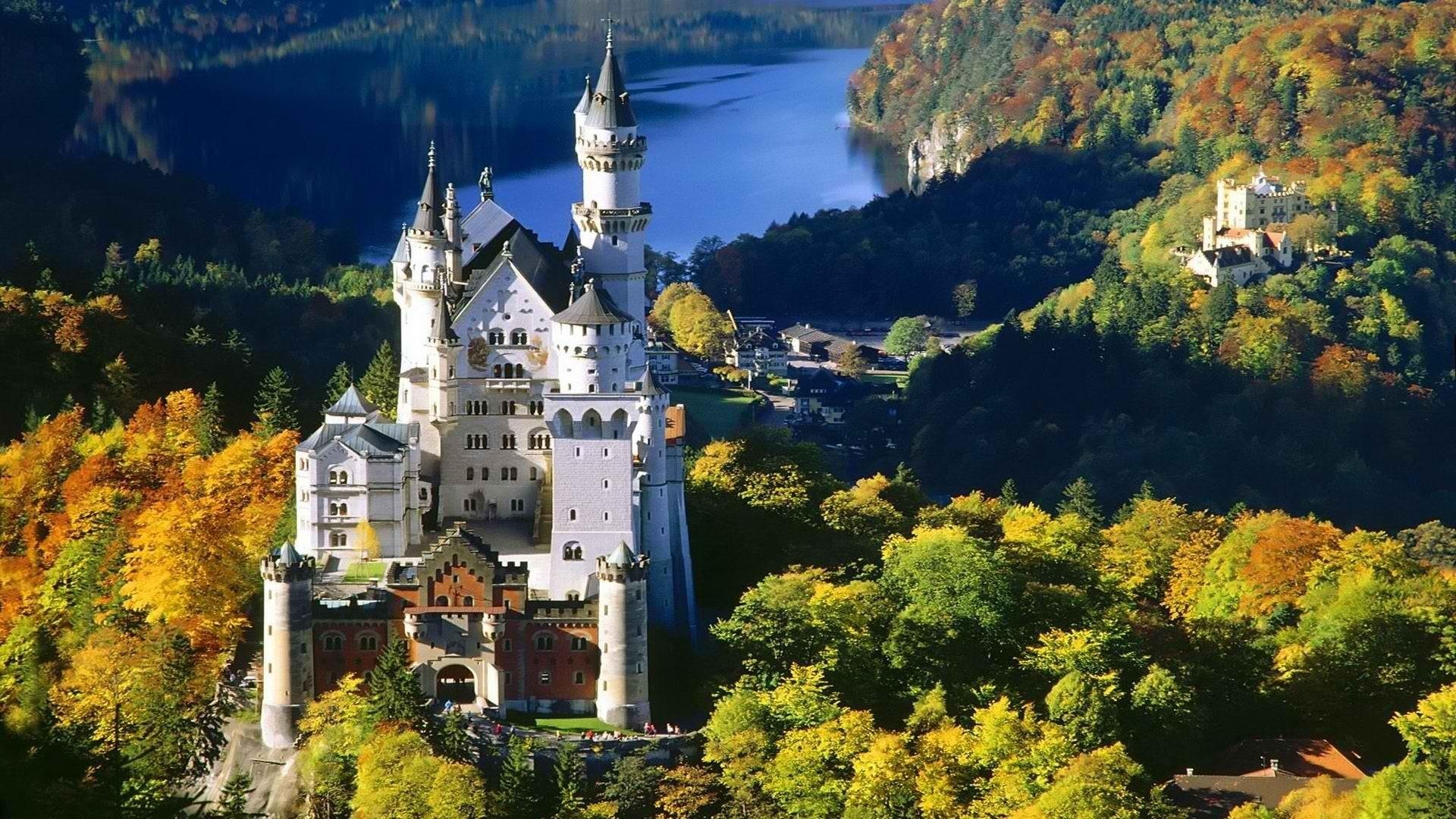 архитектура страны Замок Нойшванштайн Швангау Германия  № 2231512  скачать