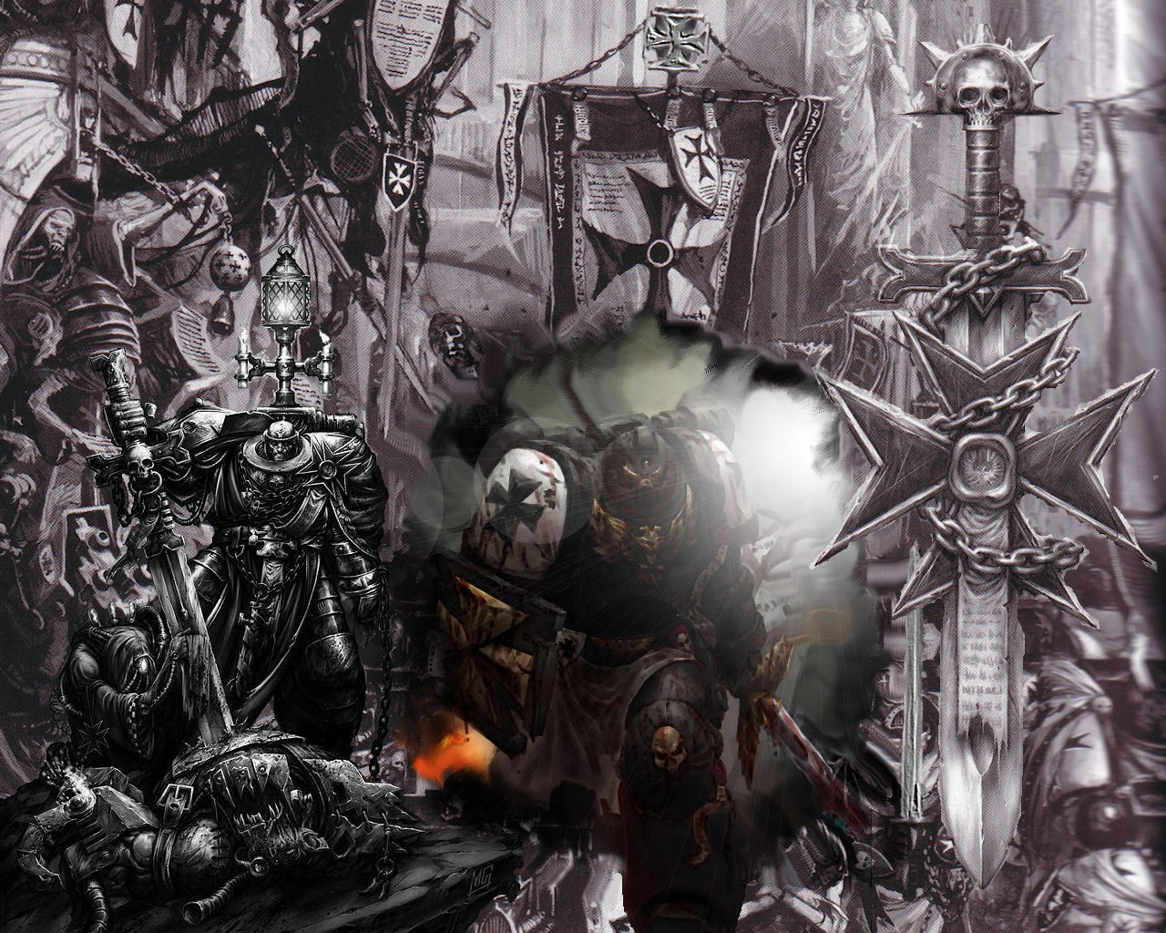 black templars   Warhammer 40k Wallpaper 10228039 1280x1024