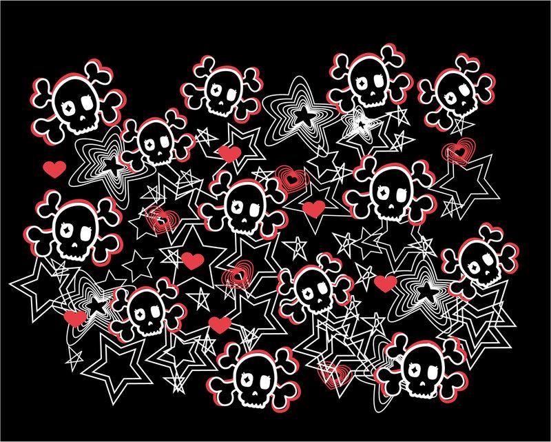 Cute Skull Wallpapers Cute Skulls by Black Kitty4 800x641
