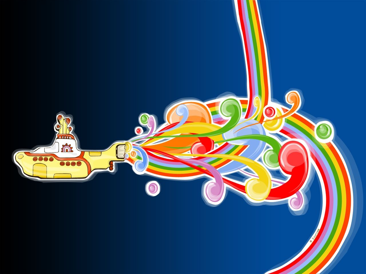 Wallpaper of Yellow Submarine Wallpaper for fans of The Beatles I 1280x960