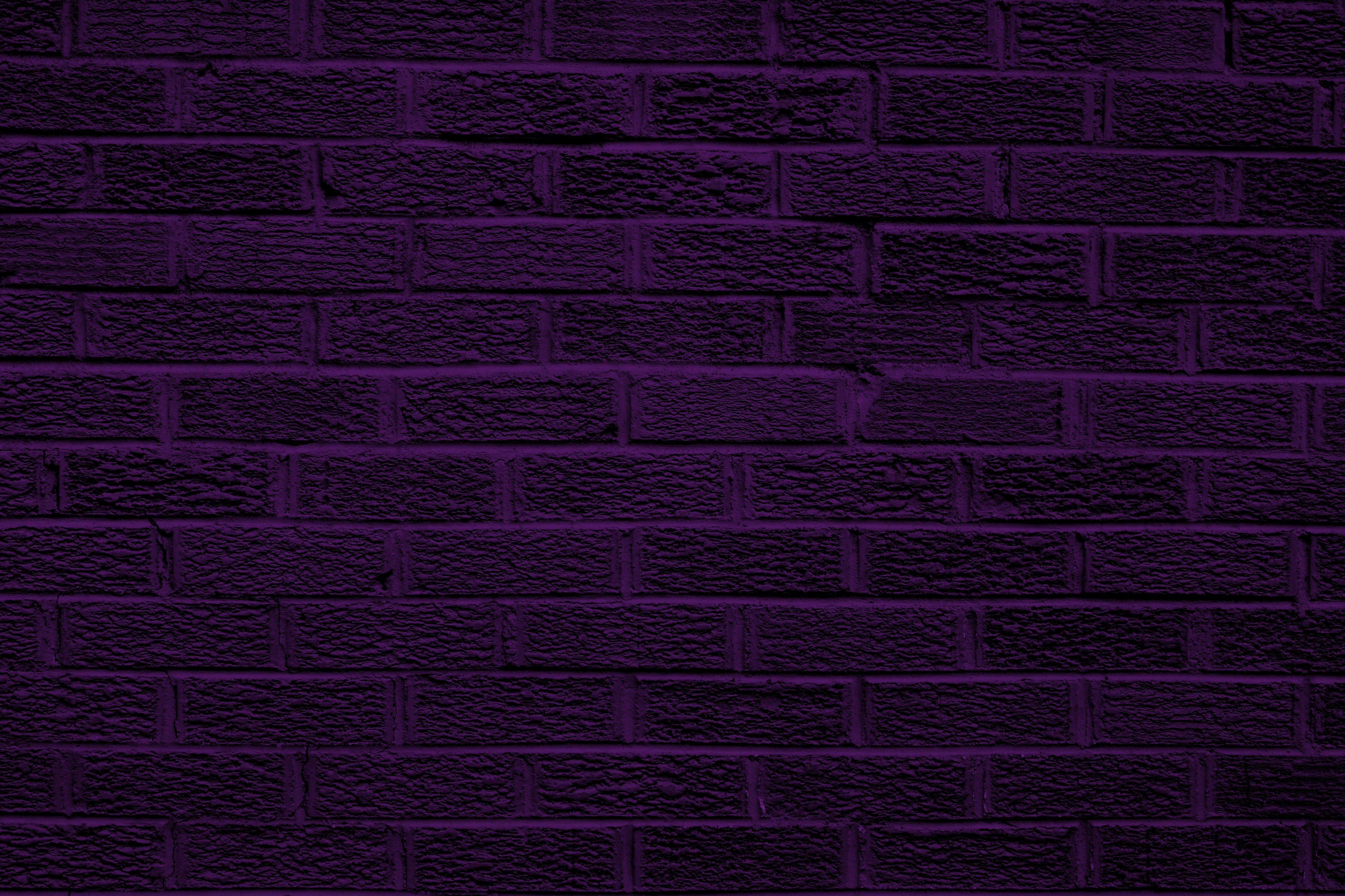 Dark Purple Brick Wall Texture Picture Photograph Photos 3888x2592