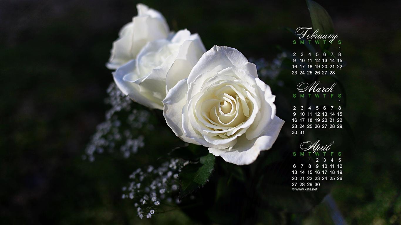 March 2014 Calendar Wallpaper 1366x768