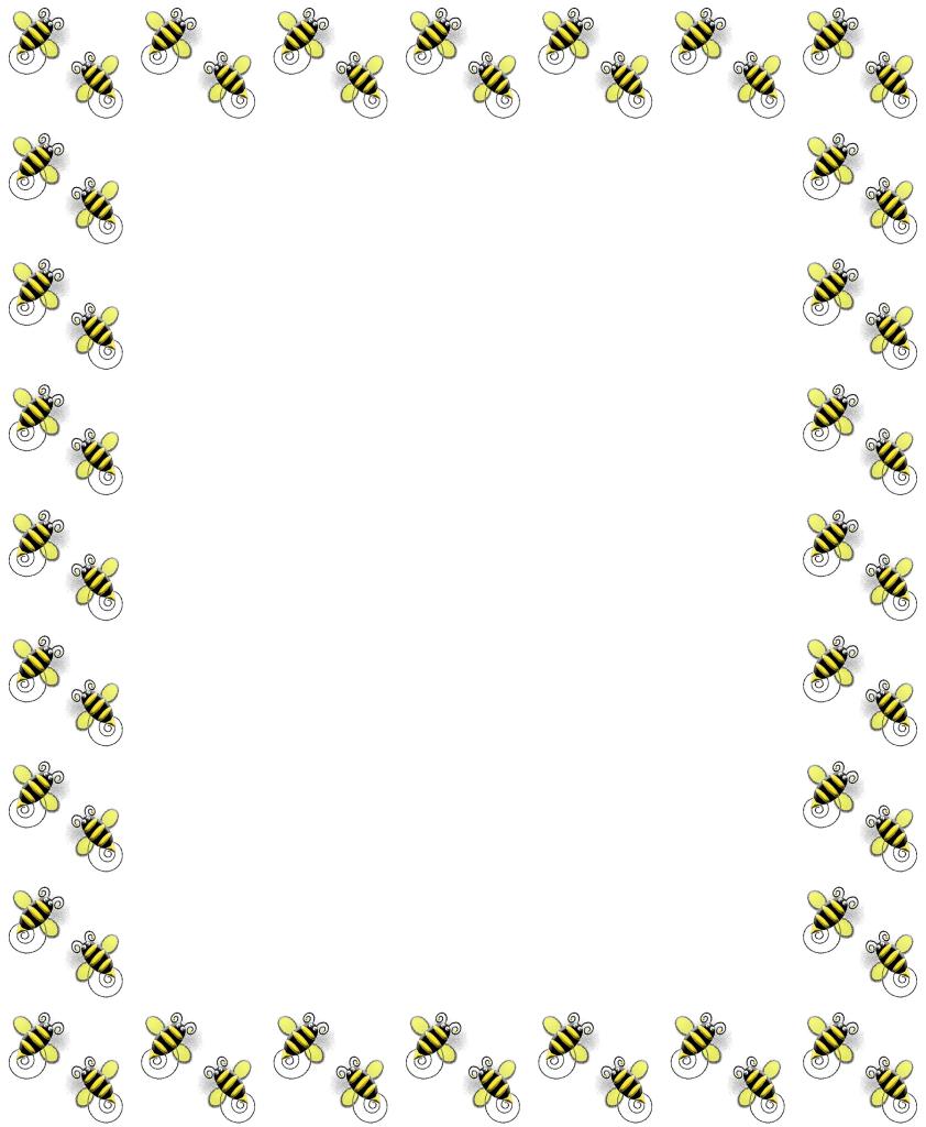 Bee Border Clip Art 842x1024