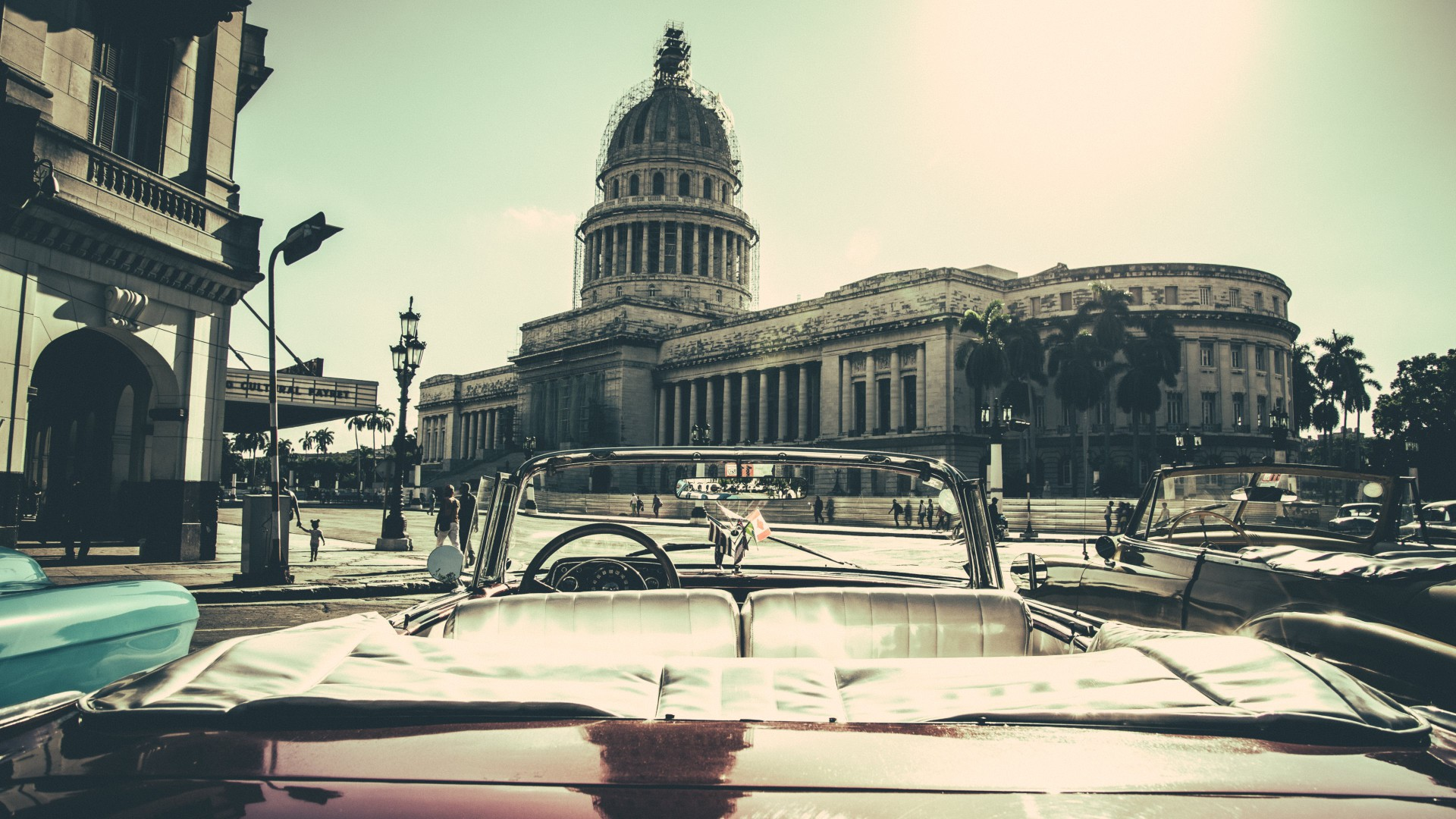 Wallpaper Havana City Buildings Car Cuba Desktop 1920x1080
