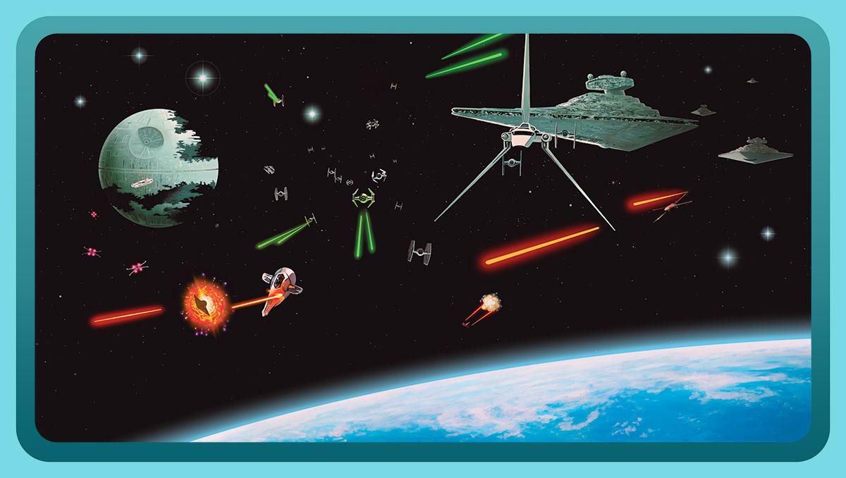 Canvas Prints Neils Artwork Star Wars Space battle Canvas Print 1200x678