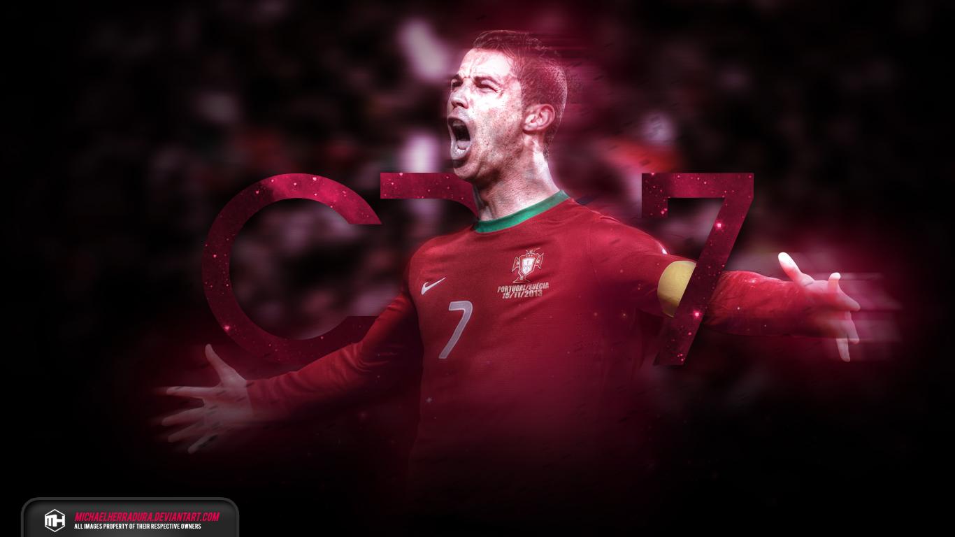 Cristiano Ronaldo CR7 Galaxy wallpaper by michaelherradura on 1366x768