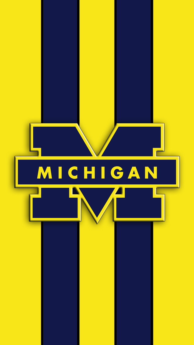 Michigan Wolverines Logo iPhone 5 Wallpaper 640x1136 640x1136