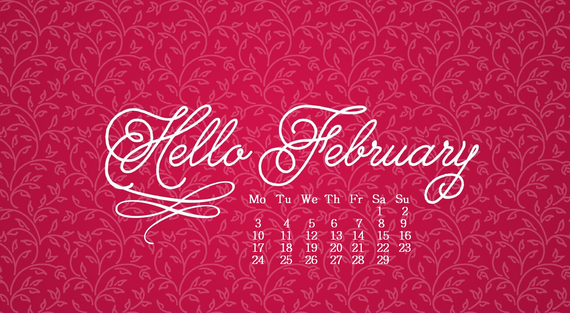 February 2020 Desktop Wallpaper Max Calendars 1960x1079