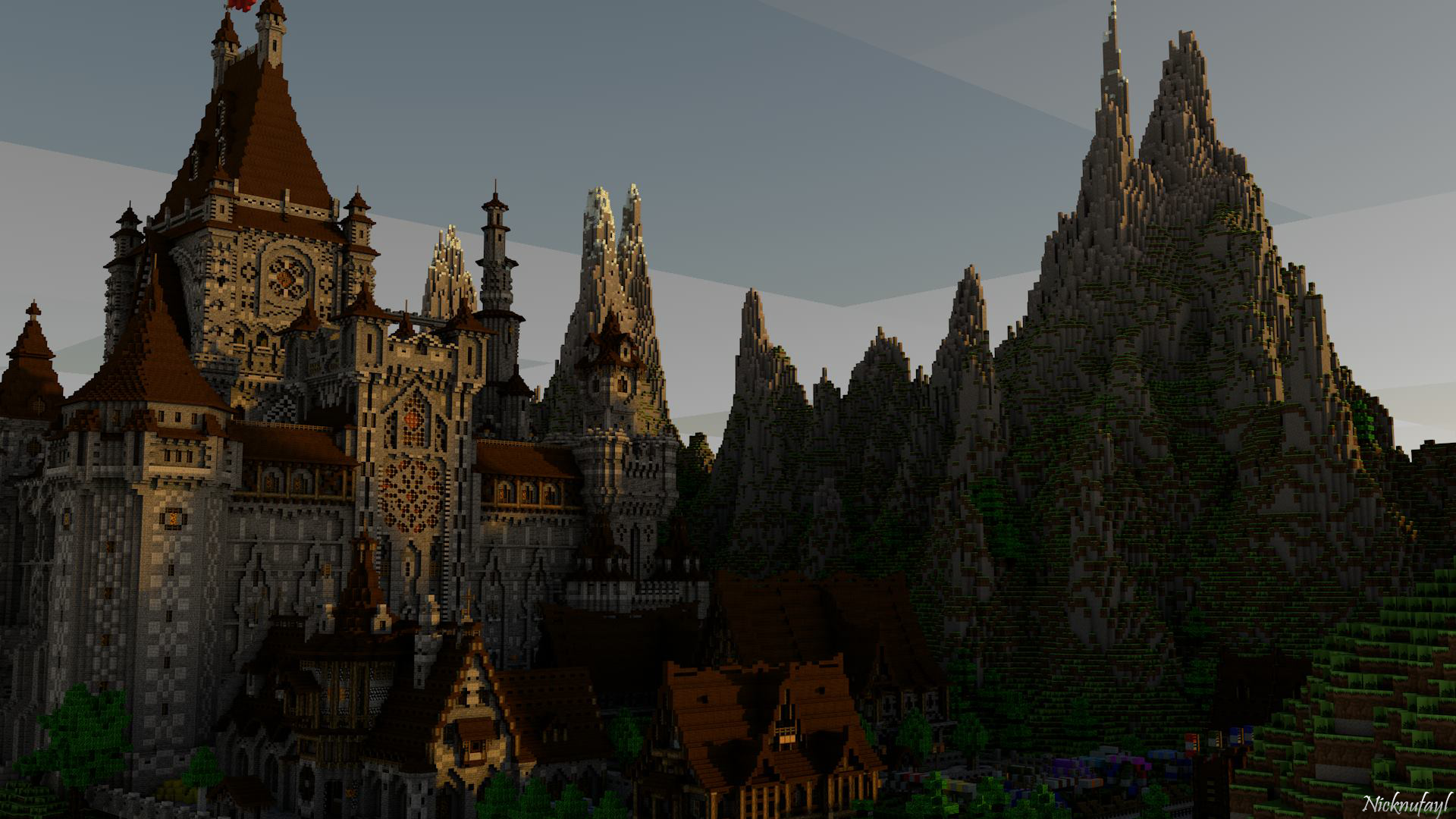 Minecraft Castle Wallpaper HD by Nicknufayl 1920x1080