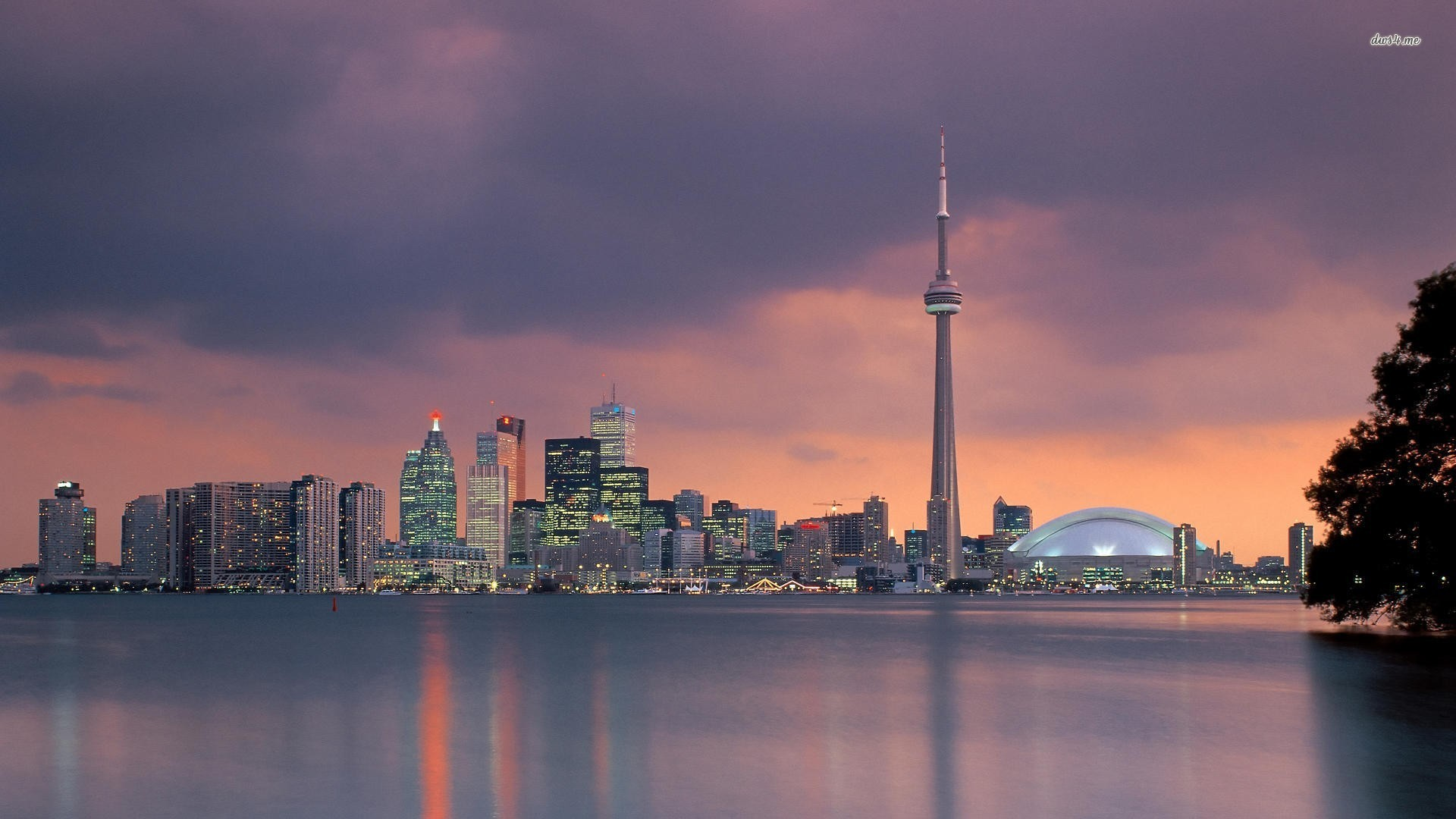 Toronto skyline wallpaper 1280x800 Toronto skyline wallpaper 1366x768 1920x1080