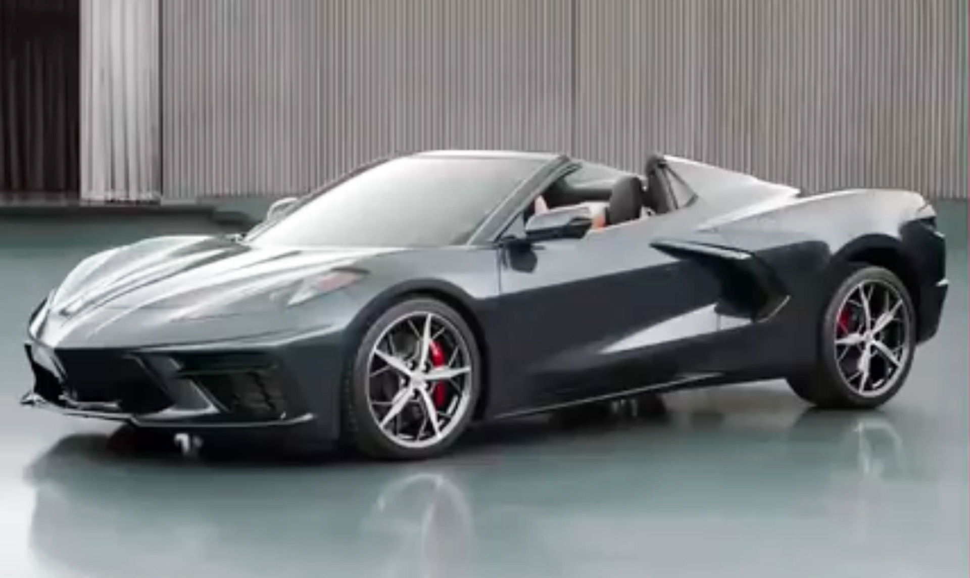Top already dropped on 2020 Chevrolet Corvette Stingray Convertible 1920x1144